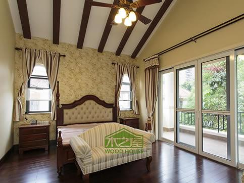 美式原木床_卧室床