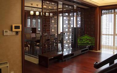 深圳龙军花园全屋实木家具定制案例