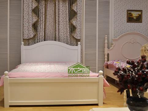 欧式实木儿童床_儿童床