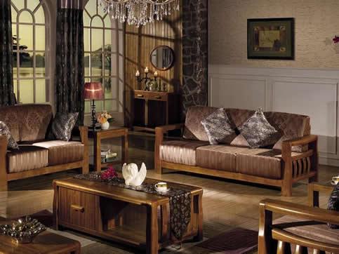 地中海风格客厅实木定制