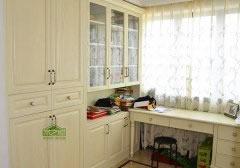 欧式实木书柜书桌_连体书桌书柜图片