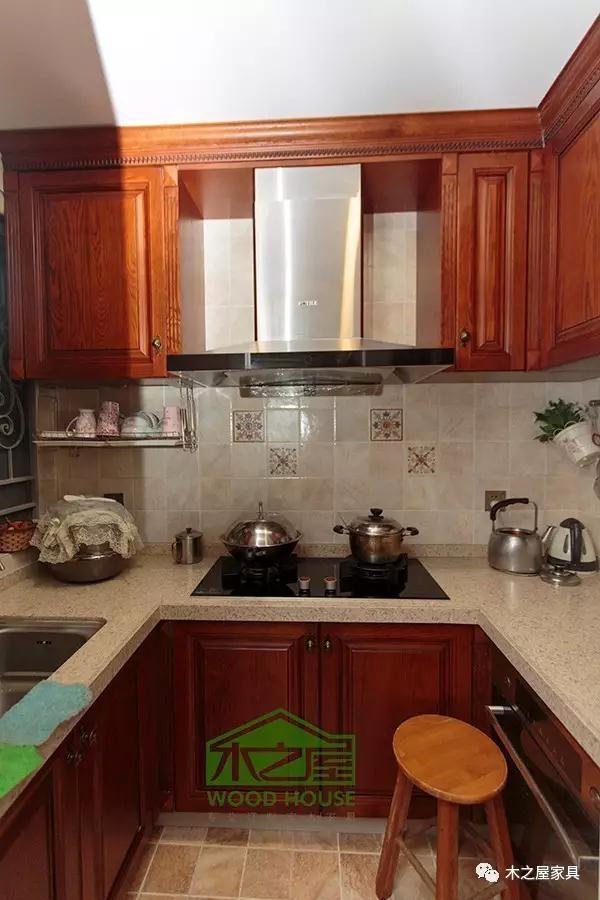 小厨房如何设计,一字型橱柜就能轻松搞定!-木之屋全屋